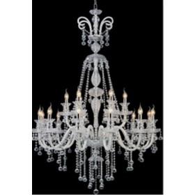 Lustre Candelabro de Cristal Transparente Maria Thereza 18 Lâmpadas - Frontier