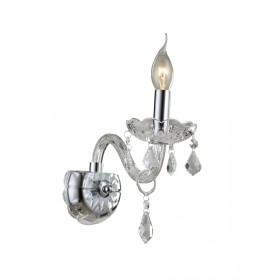 Arandela de Cristal Maria Thereza Transparente 1 Lâmpada