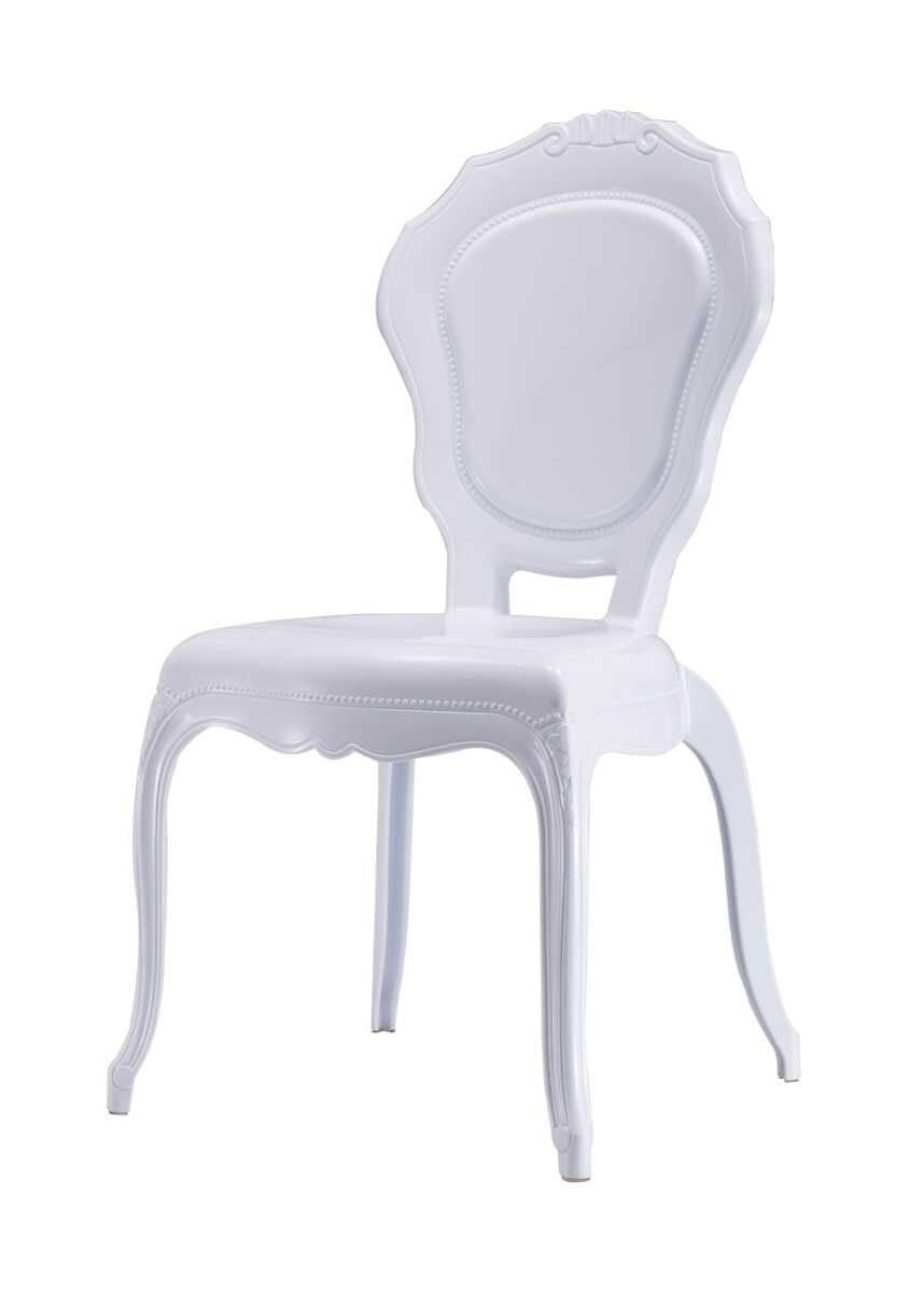 Cadeira Luis XV Princess Branca Policarbonato sem Braços