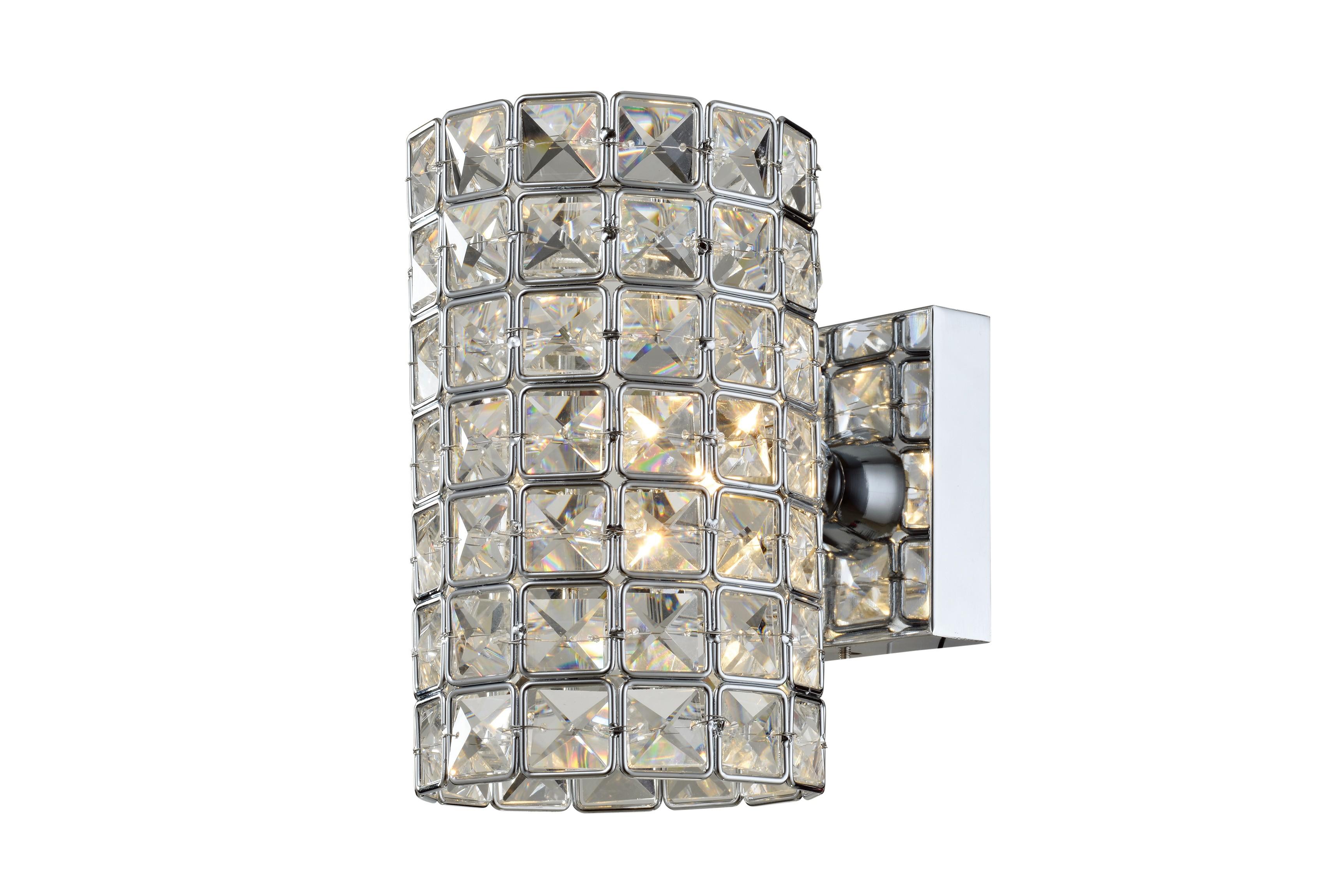 Arandela de Cristal LX ll Transparente 1 Lâmpada