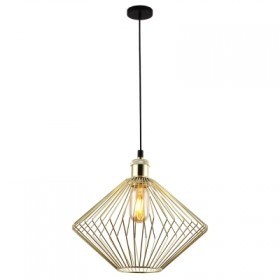 Pendente Aramado Nest 1 Lampada E-27 Dourado - Bella