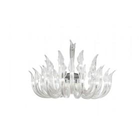 Lustre com Estrutura em Metal e Braços de Vidro 32 Lampadas IR