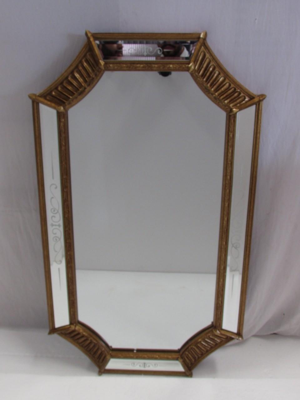 Espelho Octógono Detalhe de Dourado - Frontier