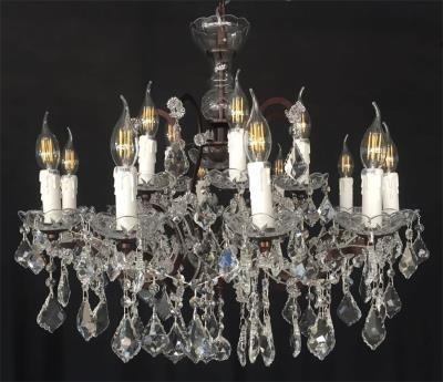 Lustre de Cristal Candelabro com Metais em Cobre 18 Lâmpadas - Frontier