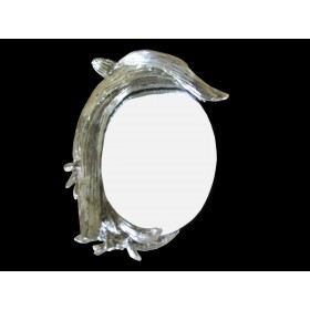 Espelho Oval de Golfinho Prata - Frontier