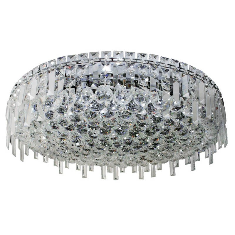 Plafon Agrafee Cristal Transparente Metal Cromado 9 Lâmpadas - Pier