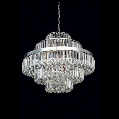 Lustre de Cristal Transparente Dijon 9 Lampadas - Bella