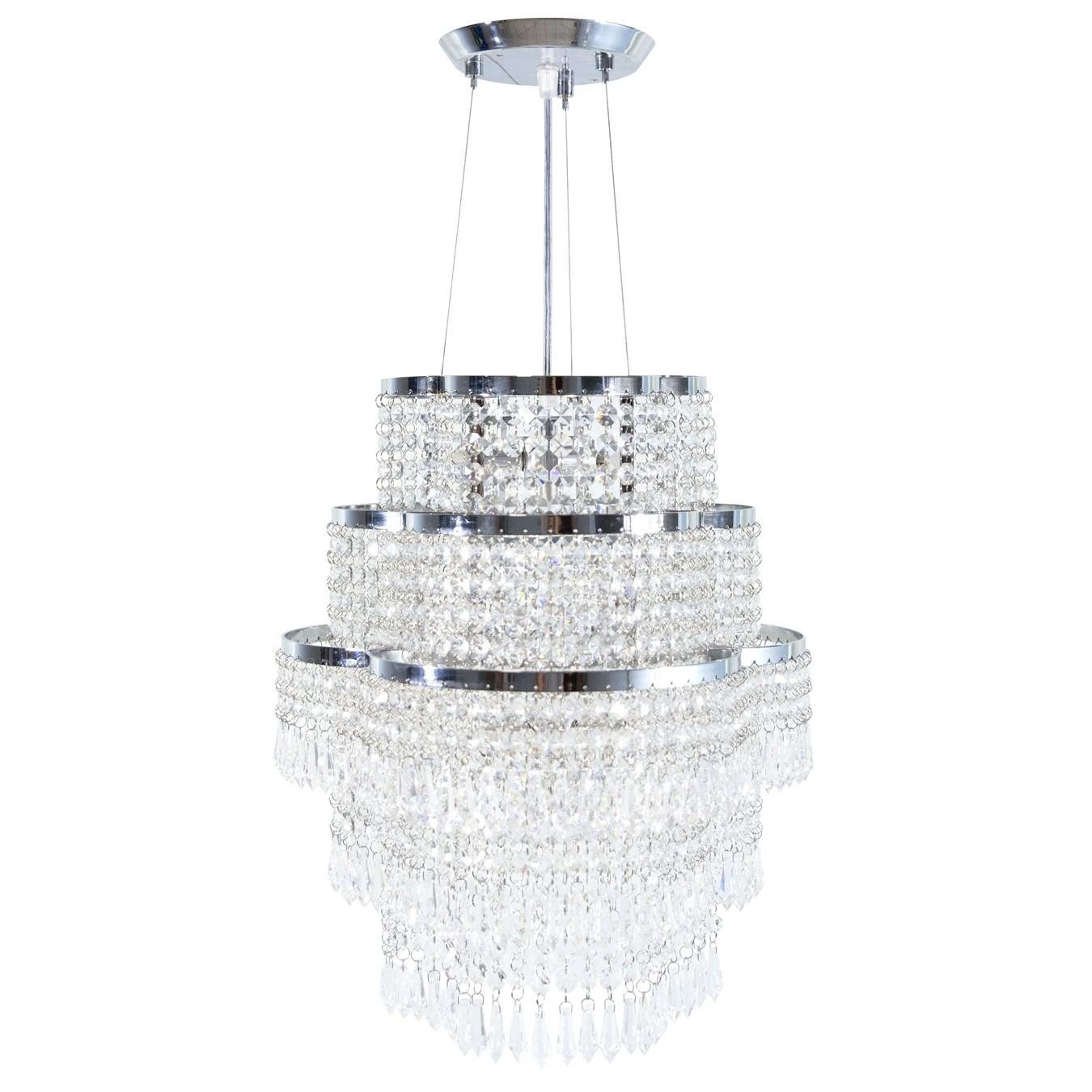 Lustre Trevo Cristal 9 Lâmpadas-Goldenart